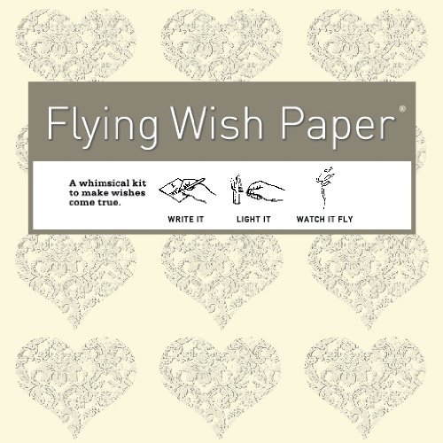 Preisvergleich Produktbild Flying Wish Paper Papier Cream with Grey Hearts Small