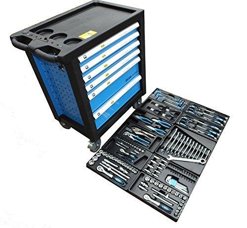 Bensontools Werkstattwagen Blue Edition bestückt mit Werkzeugen