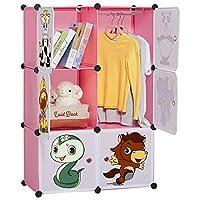 LANGRIA 6-Cube Cabinet Storage Unit Organiser for Kids