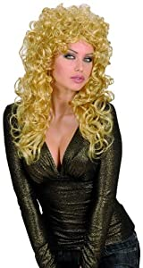 Big Blonde Curly Attractive Wig (peluca)