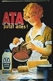 Blechschild Nostalgieschild ATA putzt alles Scheuerpulver Küche Putzmittel