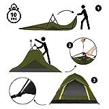 Lumaland Outdoor leichtes Pop Up Wurfzelt 3 Personen Camping robust verschiedene Farben Grün - 6