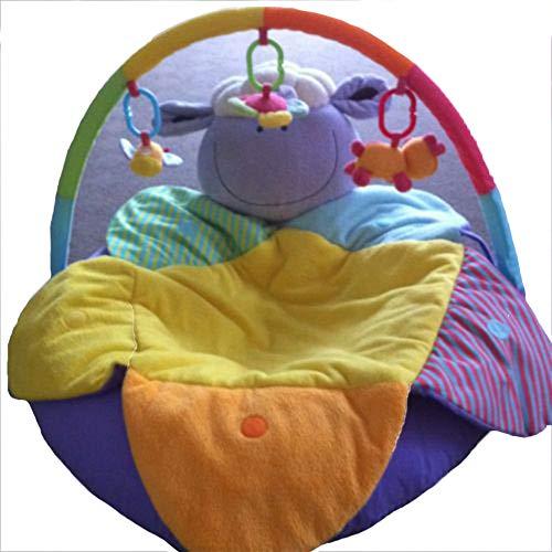 Neugeborenes Baby Spielzeug Spiel Decke Multifunktions Baby Aufblasbare Sofa Spiel Pad Blau Nilpferd Stil Mit Halterung Spielzeug,Purple -