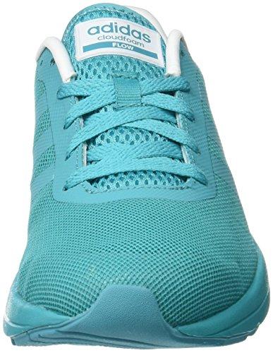 adidas Damen Cloudfoam Flow W Turnschuhe shock green s16/shock green s16/ftwr white