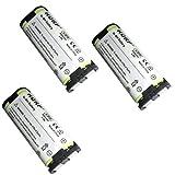 Best Téléphones sans fil HQRP - HQRP Paque de 3 Batteries rechargeables pour Panasonic Review