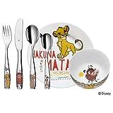 WMF Disney El Rey León - Vajilla para niños 6 piezas, incluye plato, cuenco y cubertería...