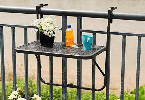 JAUTO Table Suspendue pour Balcon 60 x 40 cm - Table Pliante et résistante aux intempéries - Table Pliante pour Petit Balcon - Table Suspendue et résistante aux intempéries - Table d'extérieur