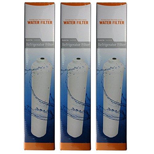 Microfilter Wasserfilter für Samsung, LG, (Side by Side) Kühlschrank Filter extern, 3er Pack