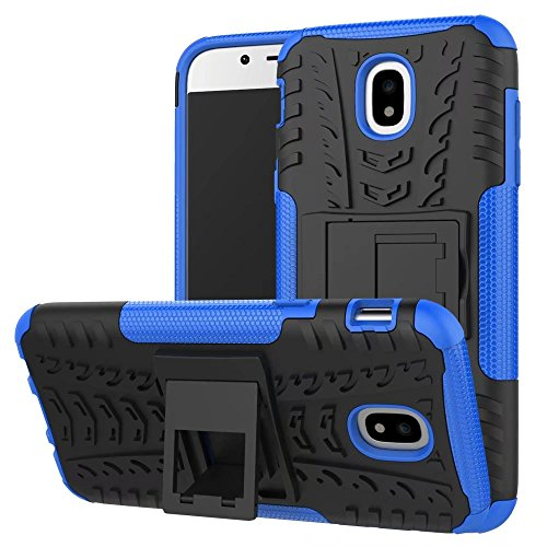 YHUISEN Hyun Pattern Dual Layer Hybrid Armor Kickstand 2 in 1 Shockproof Case Cover für Samsung Galaxy J5 Pro 2017 J530 (Europäische Version) ( Color : Green ) Blue