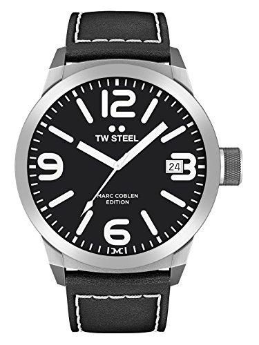 TW Steel Herren Uhr Armbanduhr Marc Coblen Edition TWMC29 Lederband