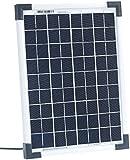 revolt Monikristalin-Solarpanel: Mobiles Solarpanel mit monokristalliner Solarzelle 10 W (Photovoltaik Solar Panels)