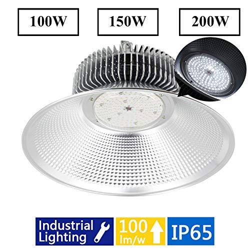Hid-lampe Reflektor (SHELLTB Hohe Bucht-LED, die Handelslager hängend industrieller Grad-Geschäftsbereich Werkstatt-Garagen-Beleuchtungs-Lampen-Reflektor HPS HID gleichwertiges helles weißes IP65 hängt,White,200W)