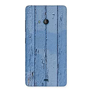 Special Blue Wood Wall Print Back Case Cover for Lumia 540