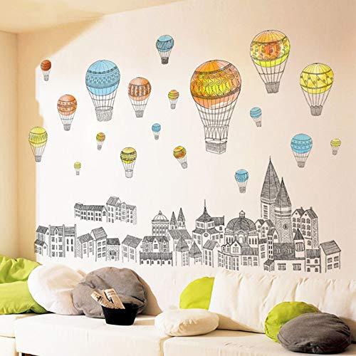 Wandaufkleber Mode Schlafzimmer Dekoration Hausbau Einfache Wohnzimmer Sofa Background Wall Tv Bunten Ballon