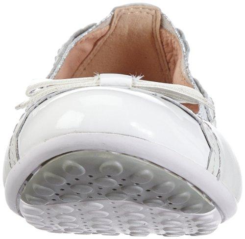 Geox J PIUMA BAL E J32B0E04302C1000 Mädchen Ballerinas Weiß (WHITE C1000)