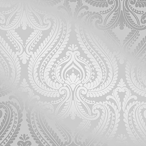 Silver metallic wallpaper for Silver grey walls