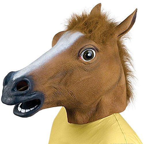 Deluxe Erwachsene Pferd Maske braun mit (Pferd Maske Mit)