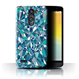 Stuff4 Phone Case for LG L Bello/D331 Teal Fashion Abstact
