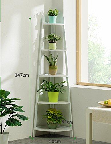 LWF $Pots Planters Support de Fleur en Bois Massif Coin d'angle Balcon Salon Plancher d'intérieur en Bois (Couleur : B, Taille : 50 * 35 * 147)