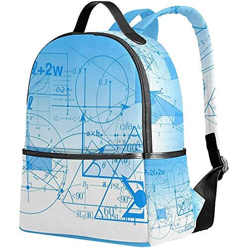 Laptoprucksack,Mathematische Formel Koordinate Umhängetasche Bookbag Casual Kinder Bookbags Für Sportliche Wandern Athletic 37Cm(H) X30.5Cm(W) -