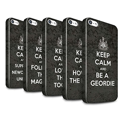 Officiel Newcastle United FC Coque / Clipser Brillant Etui pour Apple iPhone SE / Pack 7pcs Design / NUFC Keep Calm Collection Pack 7pcs