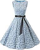 bbonlinedress 50s Retro Schwingen Vintage Rockabilly Kleid Faltenrock Little Flowers XS
