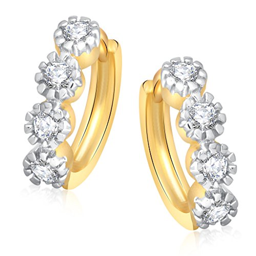 Vk Jewels Four Stone Gold Brass Alloy Cz American Diamond Earring for Women Vkbali1047G
