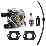 Aisen carburateur avec joint Bougies Essence Tuyau de filtre pour Stihl 020T MS200T MS200MS 200Tronçonneuse remplacement 11291200653