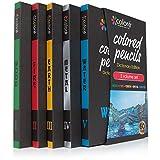 Colore Matite colorate edizione dizionario - Set di 60 pastelli pre-temperati di alta qualità per disegnare e colorare - Ideali per la scuola, per adulti e bambini - 60 colori brillanti