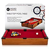 WG Table Top Pool Game – Large Desktop Wooden Board – Includes Balls