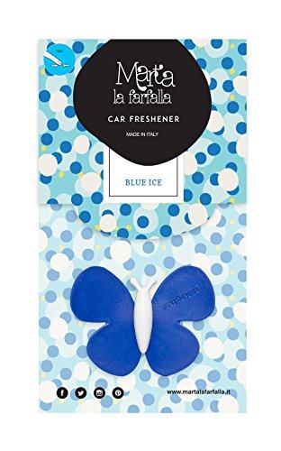 Marta la Farfalla 75229 Profumatore per Auto e Ambienti Blue Ice, Confezione da 24 Pezz