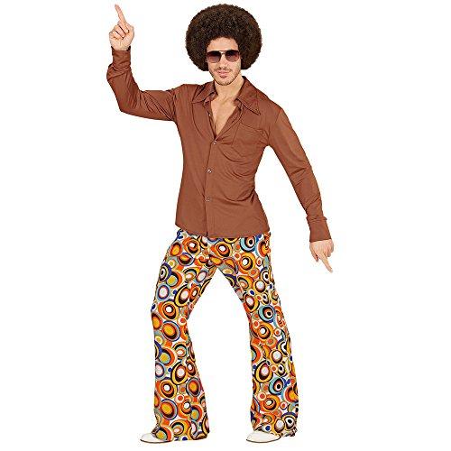 NEU Herren-Kostüm Hemd, braun, Gr. L-XL (70's Party Kostüme)