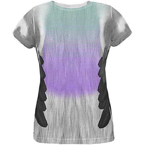 ube über Damen-T-Shirt Multi SM (Taube Kostüm)