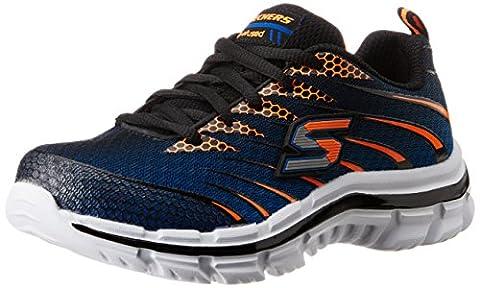 Skechers Boys' Nitrate Low-Top Sneakers, Blue (Royal Orange), 12 UK Child
