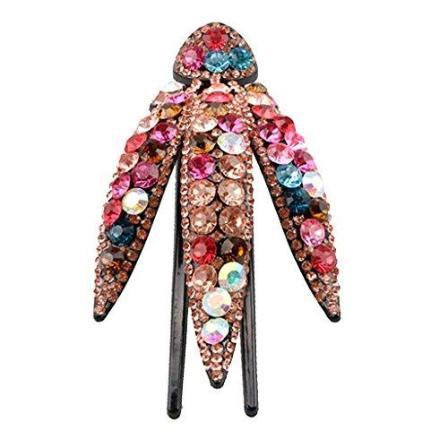 Baoblaze Elegantes Haarklammern Haarkrallen Spinnen Haarspangen Clips mit Kristall Charm - Farben Auswählen - Mehrfarbig