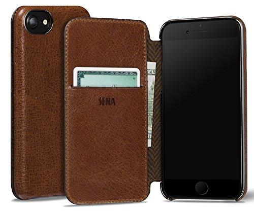 Sena Ultra Thin Wallet Book Schutzhülle für Apple iPhone 7–cognac-parent