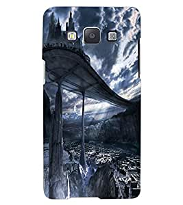 ColourCraft SkyWalk Castle Design Back Case Cover for SAMSUNG GALAXY A7