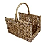 east2eden Large Open Ended Extra Stroing Full Wicker Log Log Basket