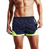 Herren Männer Jungen Kurze Hose Surfshorts Stammbadebekleidung Badeshorts Badehose Beachshorts Boardshorts (XL, Dunkelblau)