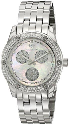 Wellington WN507-181A Mataura - Reloj de pulsera analógico para mujer, fabricado en acero inoxidable
