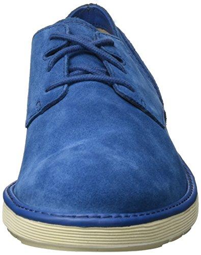 Clarks Fayeman Lace, Chaussures À Lacets Bleues Pour Hommes (blue Suede)