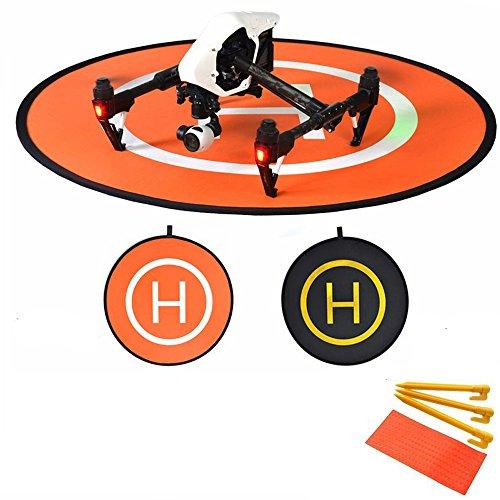 Kingwon 110 cm Drohnen Helikopter Landeplatz Landeplattform Landing Pad Platform Dronepad Helipad Heliport Pad für RC Drohnen Quadrocopter DJI Phantom 4 Phantom 3 2 1 inspire Schutzzubehör