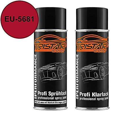 Autolack Spraydosen Set Ford / Lincoln / Mercury EU-5681 Candy Apple Red Basislack Klarlack Sprühdose 400ml