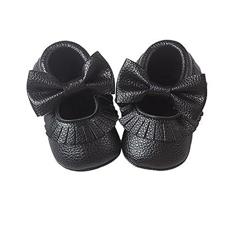 Royal Victory , Chaussures premiers pas pour bébé (fille) - noir - noir,
