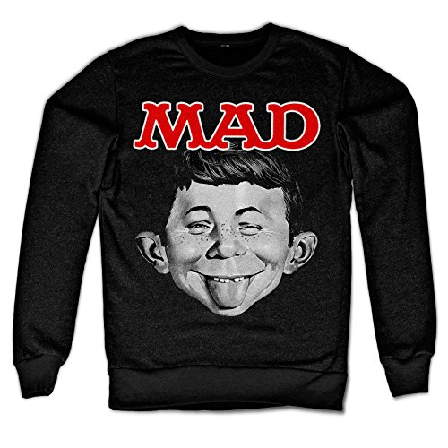 Officially Licensed Merchandise MAD Magazine - Alfred Sweatshirt (Black), XX-Large