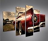 islandburner Bild Bilder auf Leinwand Amischlitten V2 MF XXL Poster Leinwandbild Wandbild Dekoartikel Wohnzimmer Marke