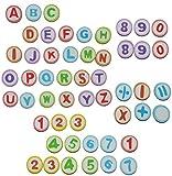 Unbekannt 52 tlg. Set: Radiergummi - Zahlen + Buchstaben ABC Alphabet - Radierer - Schulanfang für Kinder / auch als Lesespiel - Schule lernen schreiben Schultüte