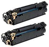 Prestige Cartridge CF283A 83A Kit 2 Toner compatibili per HP Laserjet Pro MFP M225dn, M225dw, M201dw, M201n, M202dw, M202n, M125a, M125nw, M125rnw, M125m, M126a, M126nw, M127fn, M127fp, M127fw, M128fn, M128fp, M128fw