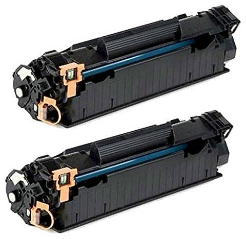 2 Toner Laser compatibles avec imprimantes HP CF283A 83A Laserjet Pro MFP M225dn, M225dw, M201dw, M201n, M202dw, M202n, M125a, M125nw, M125rnw, M125m, M126a, M126nw, M127fn, M127fp, M127fw, M128fn, M128fp, M128fw | 1500 Pages