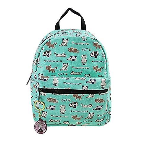 LY® Sac à Dos En Toile Cartable Cartoon Sac d'Elevés 3-12 Ans Canevas Enfant Backpack Scolaire Loisirs Pour Enfant Primaire Maternelle Fille Garçon Unisexe - Vert